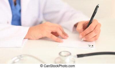 femme, prescription, écriture