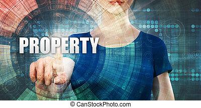 femme, propriété, accéder