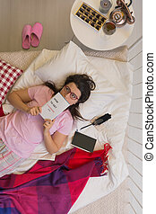 femme, pyjamas
