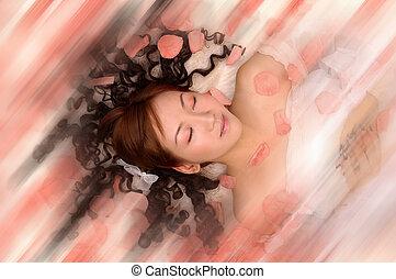 femme, rêveur