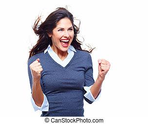 femme, reussite,  Business, heureux