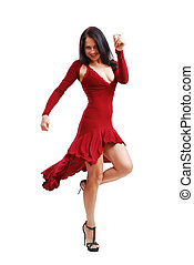 femme, robe, jeune,  cocktail, danse