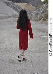 femme, rouges