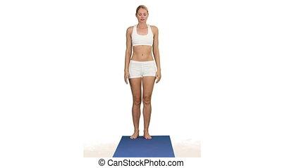 femme, séduisant, exercice