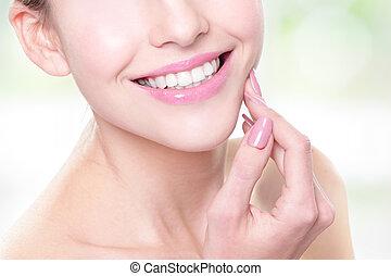 femme, santé, dents