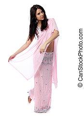 femme, sari, jeune, indien, jolie robe