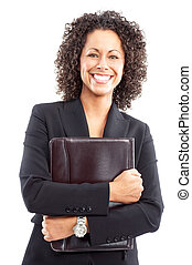 femme souriante, business