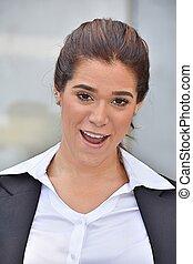 femme souriante, divers, business