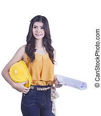 femme souriante, ingénieur