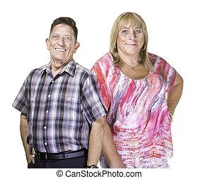 femme souriante, transgender, homme