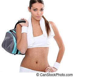 femme, sportif