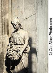 femme, statue, cimetière recoleta