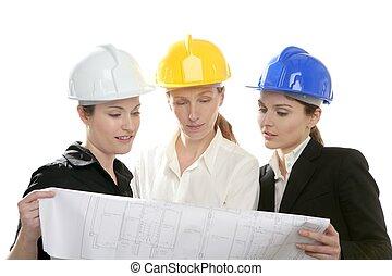 femme, studio, isolé, architectes, fonctionnement