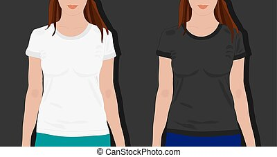 femme, t-shirts