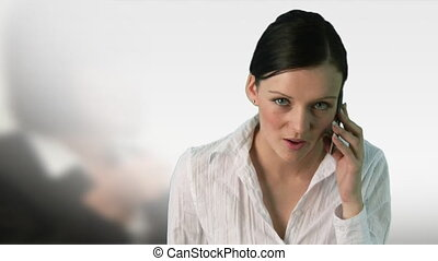 femme, travail, business, -3