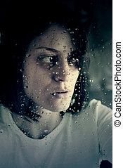 femme triste, abusé