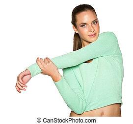 femme, vêtements de sport