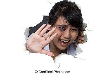 femme, violence, conjugal, victimnof, abus, peur