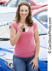 femme voiture, achats, nouveau
