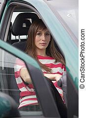 femme voiture