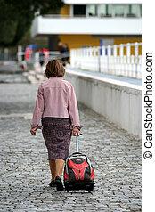 femme, voyager