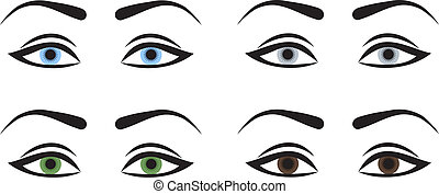 femme, yeux