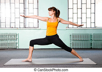 femme, yoga, exercisme, mûrir