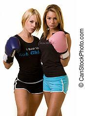 femmes, boxeurs