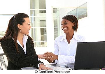 femmes, equipe affaires