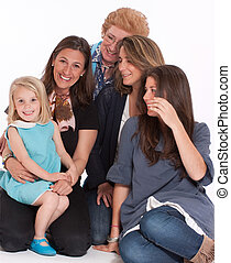 femmes heureuses, famille