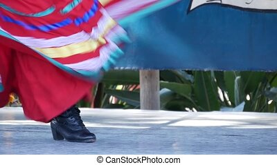 femmes, jarabe, skirts., traditionnel, tapatio, danseuses, ...