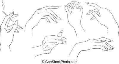 femmes, mains