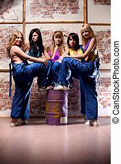 femmes, ouvrier, équipe