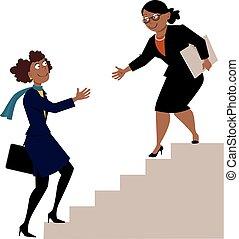 femmes, programme, mentorship