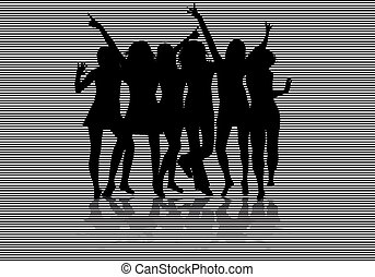 femmes, silhouettes