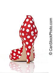 femmes, talons, chaussures, élevé
