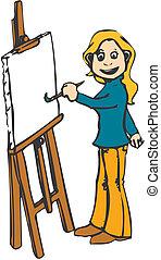 femmina, artista