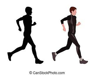 femmina, corridore, maratona