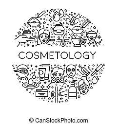 femmina, cosmetologia, linea, bellezza, skincare, icone,...