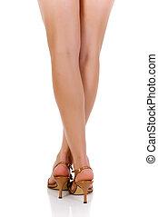 femmina, gambe, alti talloni