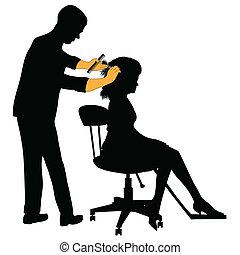 femmina, parrucchiere