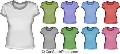 femmina, set, camicie