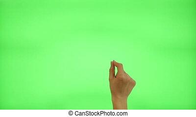 femmina, touchscreen, gesti