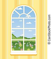 fenêtre, arqué