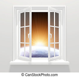 fenêtre, autre, galaxie