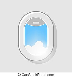 fenêtre avion, vue