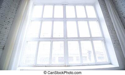 fenêtre., blanc