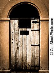 fenêtre, bois, vieux