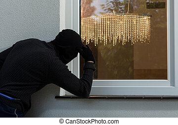 fenêtre, cambrioleur