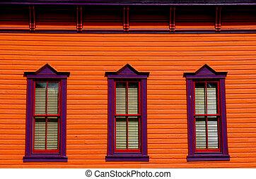 fenêtre, coloré
